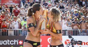 FIVB Beachvolleyball in Wien mit Adrienne Kiss
